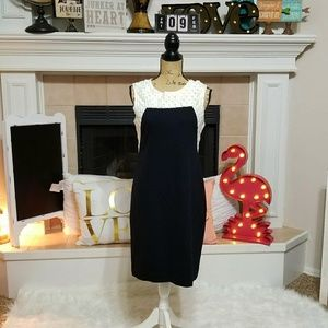Taylor color block dress black and white size 8